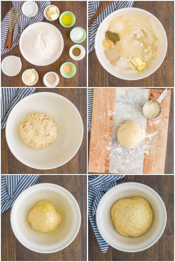 making and preparing the dough