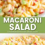 Macaroni Salad pin collage