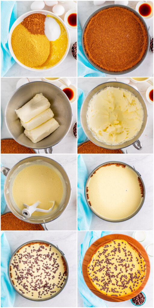 making the crust and filling