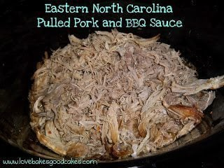 Eastern NC Pork and BBQ Sauce