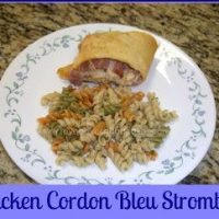 Chicken Cordon Bleu Stromboli