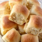 Soft and Easy Buttery Rolls piled in bowl.