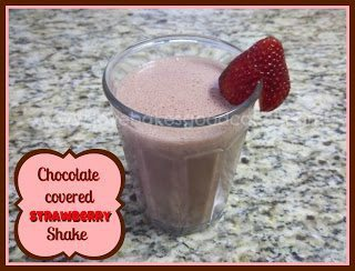 Chocolate Covered Strawberry Shake with strawberry on glass