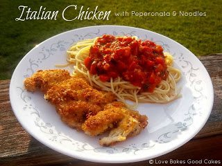 Italian Chicken with Peperonata & Noodles – Crazy Cooking Challenge