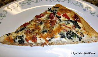 Tomato Spinach Alfredo Pizza