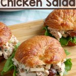 deli-style chicken salad sandwich on croissant