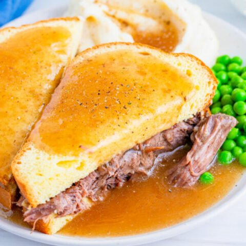 Hot Roast Beef Sandwiches with Gravy