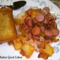 Saucy Franks with Rice