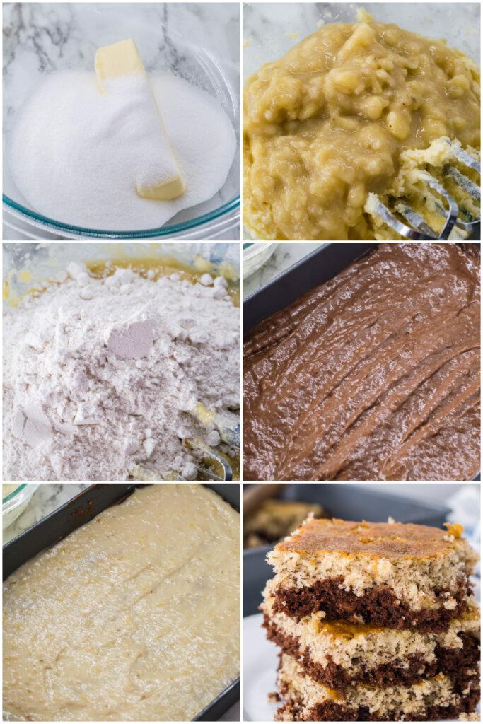 how to make chocolate banana bars