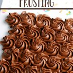 chocolate buttercream frosting swirls