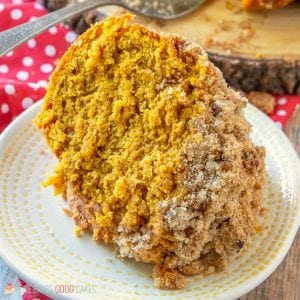 Make breakfast or brunch extra special when you serve this Pumpkin Streusel Coffee Cake! You don't have to wait for fall - Pantry staples make this the perfect coffee cake for a year-round treat.