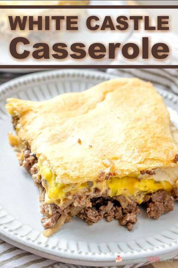 Satisfy your craving but skip the local fast-food joint - this WHITE CASTLE CASSEROLE is a simple and delicious family-approved weeknight meal!