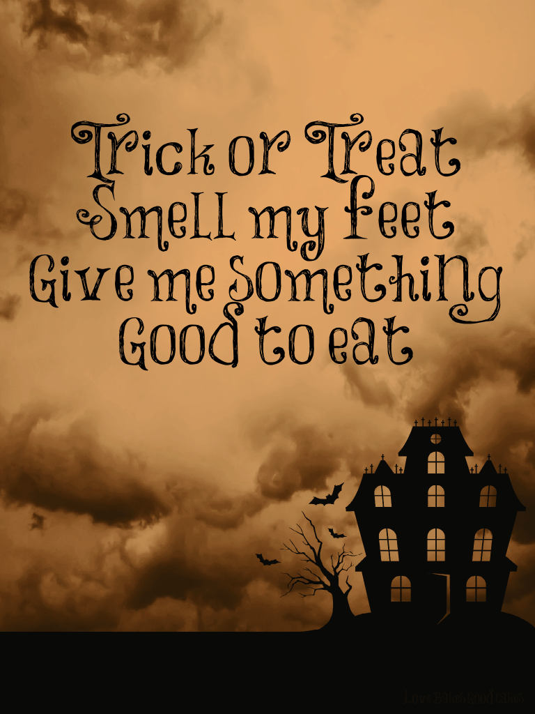 """Trick or treat"" printable (8×10)"