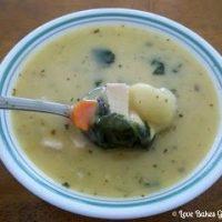 Pesto Chicken and Gnocchi Soup