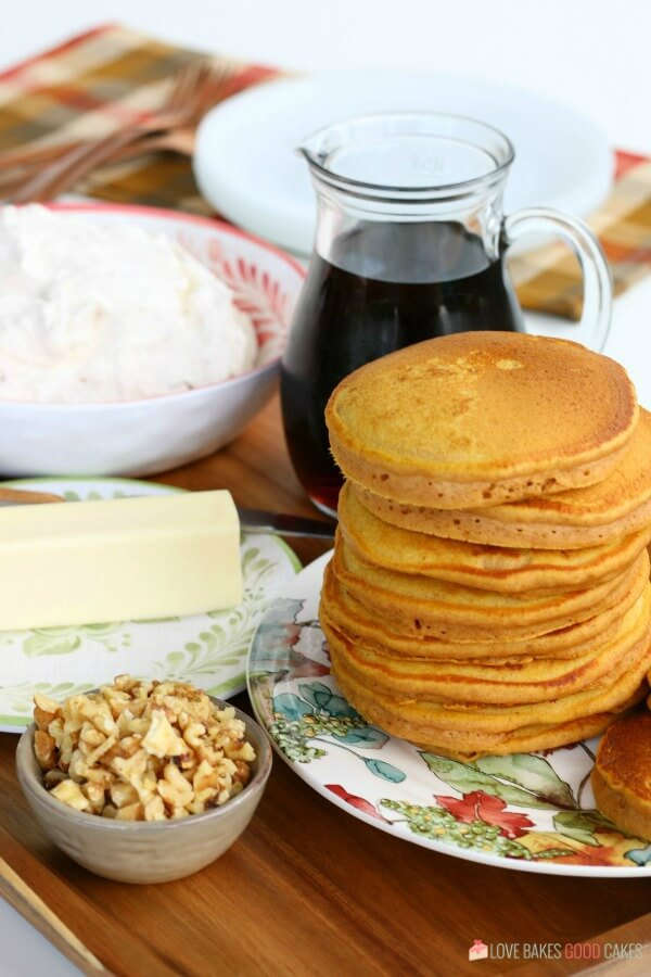 Easy pumpkin cancakes for chilly fall mornings.