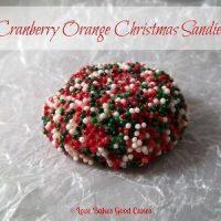 Cranberry Orange Christmas Sandies
