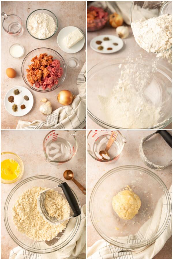 preparing the pie crust from scratch