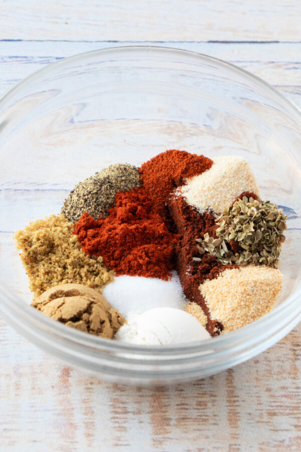 spices in a glass bowl