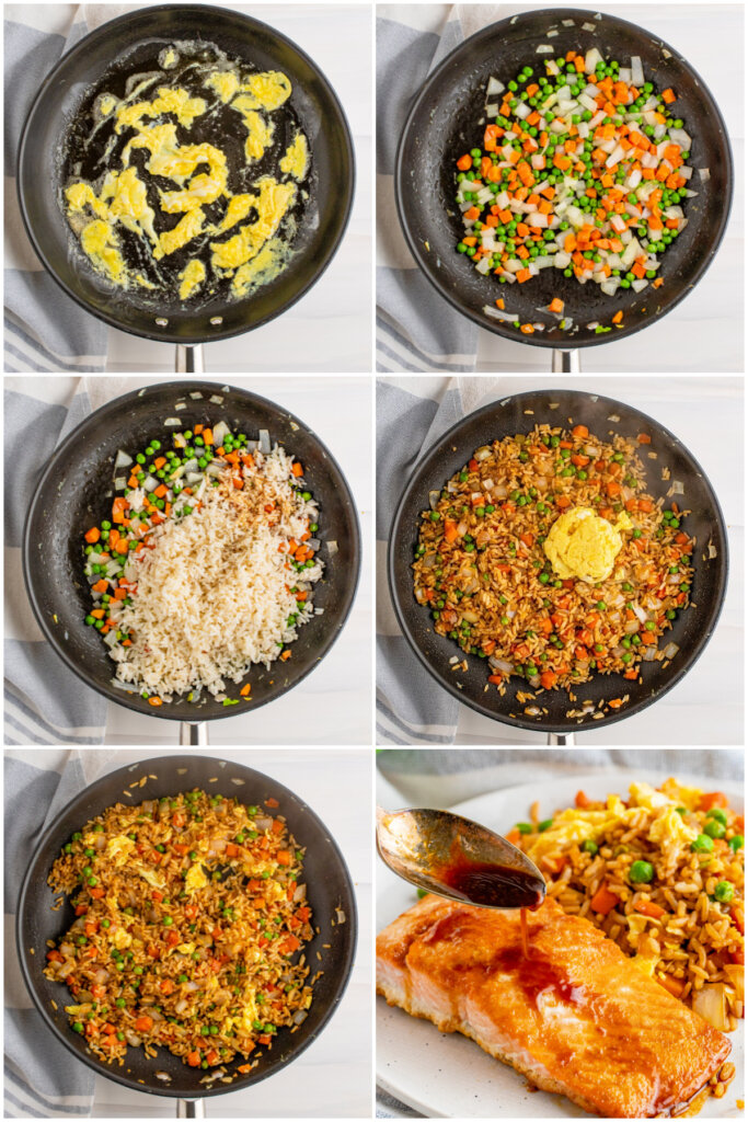 steps how to make veggie fried rice