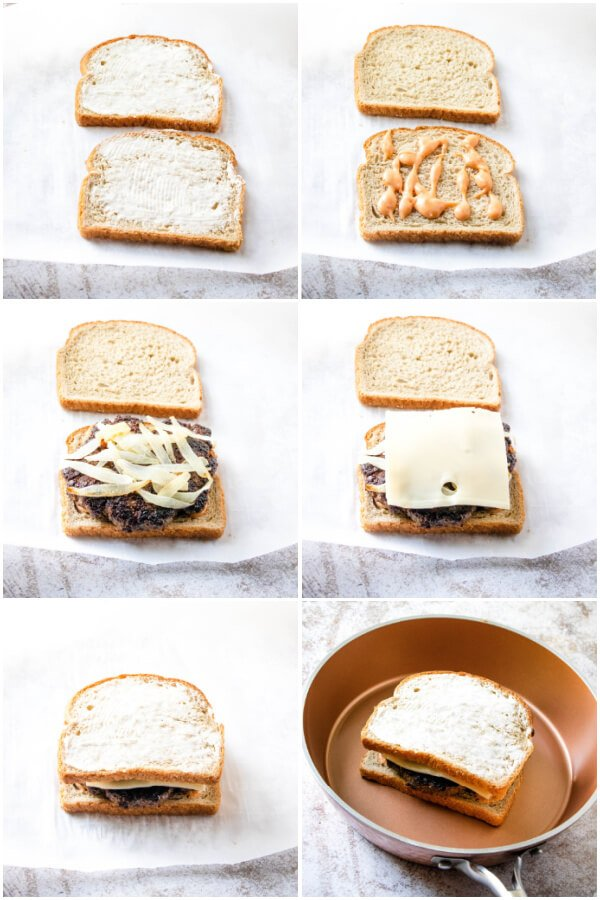 how to make and assemble a patty melt