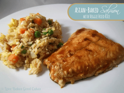 Asian-Baked Salmon with Veggie Fried Rice
