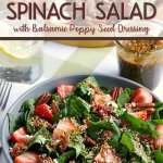 my recipe for strawberry spinach salad is finished and dressed - it's ready to be devoured!
