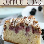 Blackberry Lemon Coffee Cake with words