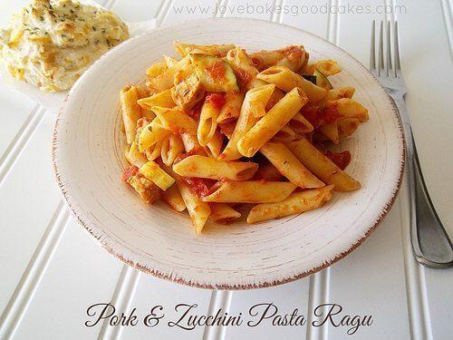 Pork & Zucchini Pasta Ragu