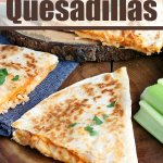 Buffalo Chicken Quesadillas cut and ready to eat