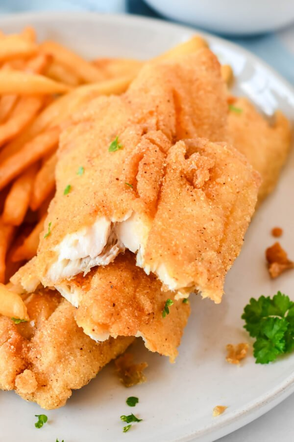 flaky fried fish