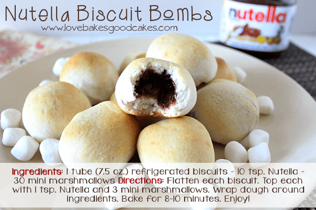 Nutella Biscuit Bombs