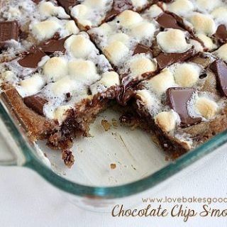 Chocolate Chip S'mores Bars