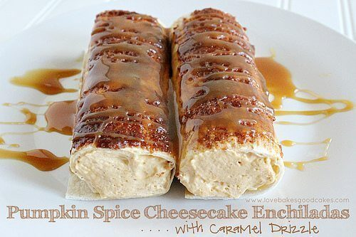 Pumpkin Spice Cheesecake Enchiladas