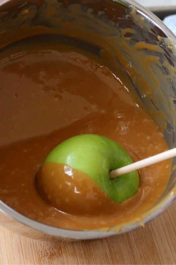 coating with caramel