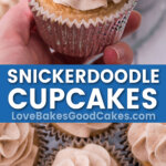 snickerdoodle cupcakes pin collage