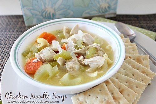 Chicken Noodle Soup & Kleenex Tissues for Cough, Cold and Flu Season