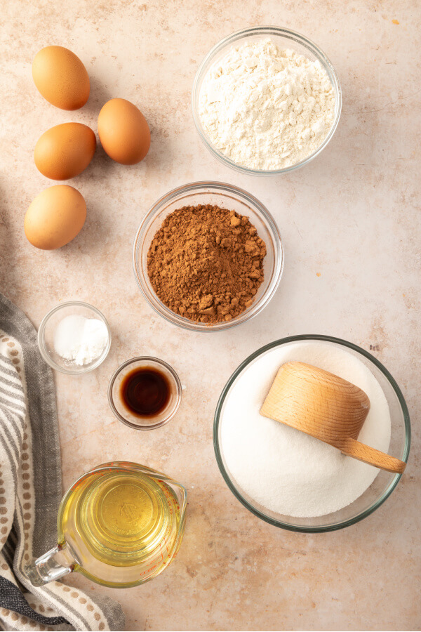 ingredients to make brownies