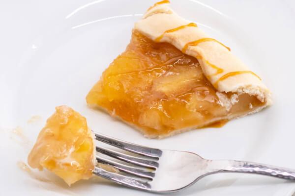 apple galette slice on plate