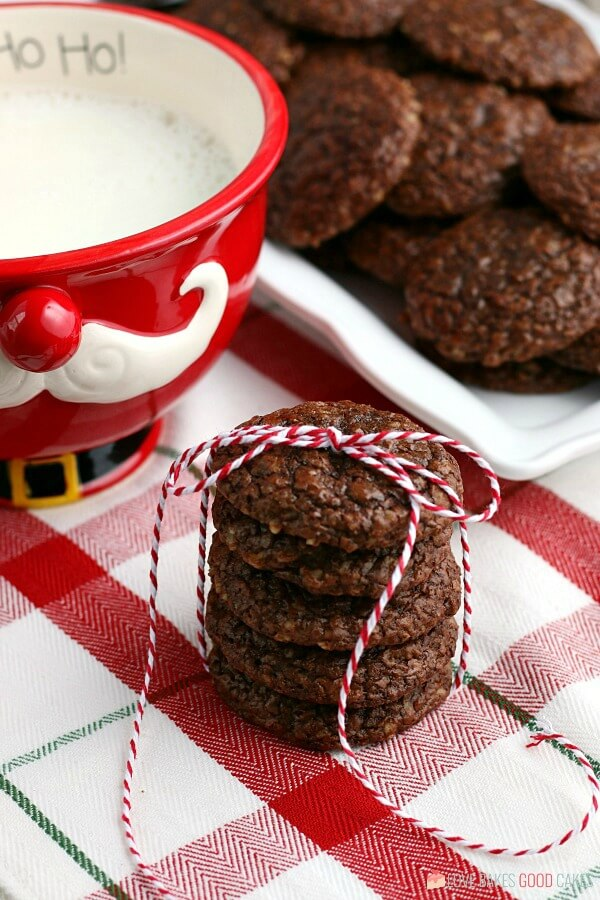 chocolate cookies for Santa!