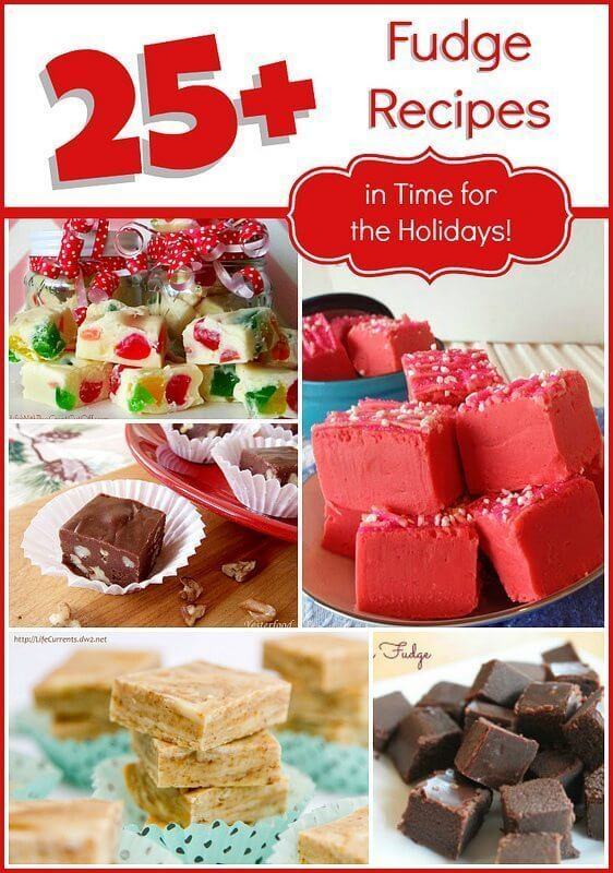 25+ FUDGE Recipes – in Time for the Holidays!