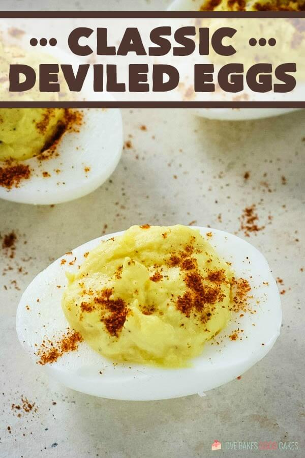 Classic Deviled Eggs pic with words