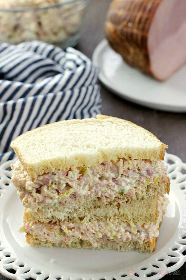 Iowa Ham Salad - Put those leftovers to good use! It's great for sandwiches - or put it on crackers for an easy lunch or appetizer idea.