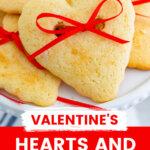 hearts & bows cookies pin