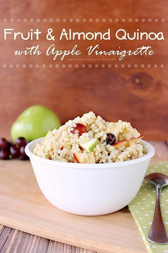 Fruit and Almond Quinoa with Apple Vinaigrette