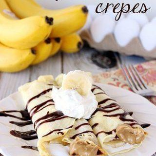Banana Fluffernutter Crepes