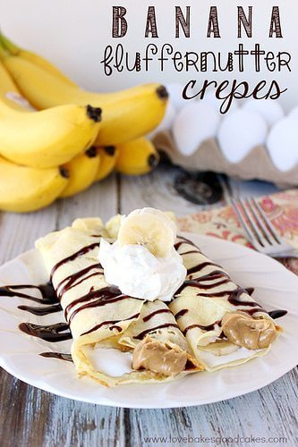Banana Fluffernutter Crepes