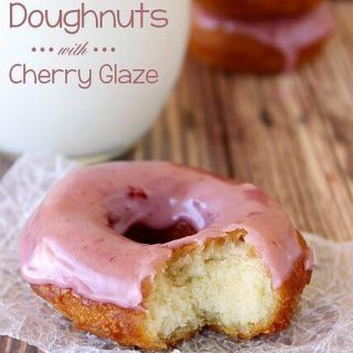 Buttermilk Doughnuts with Cherry Glaze