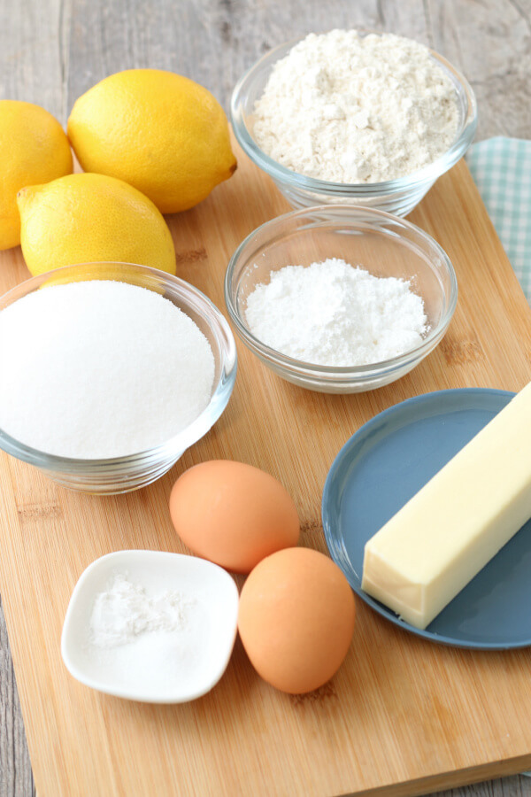 ingredients to make lemon bars