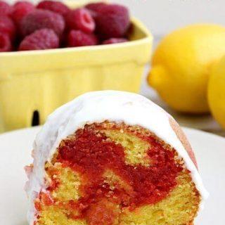 Raspberry Ripple Lemon Bundt Cake