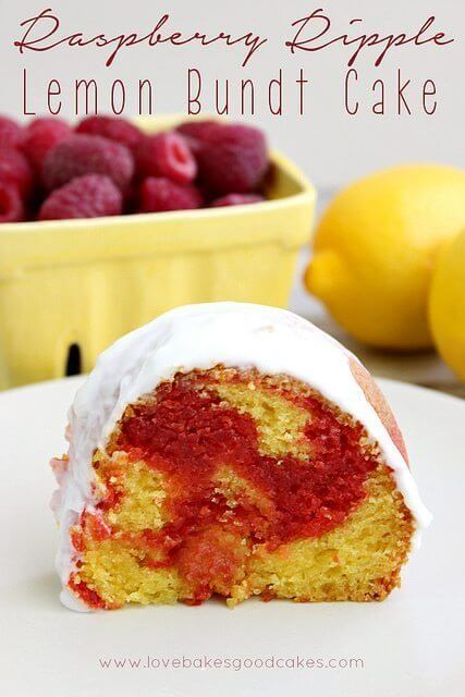 Raspberry Ripple Lemon Bundt Cake and a Virtual Baby Shower!